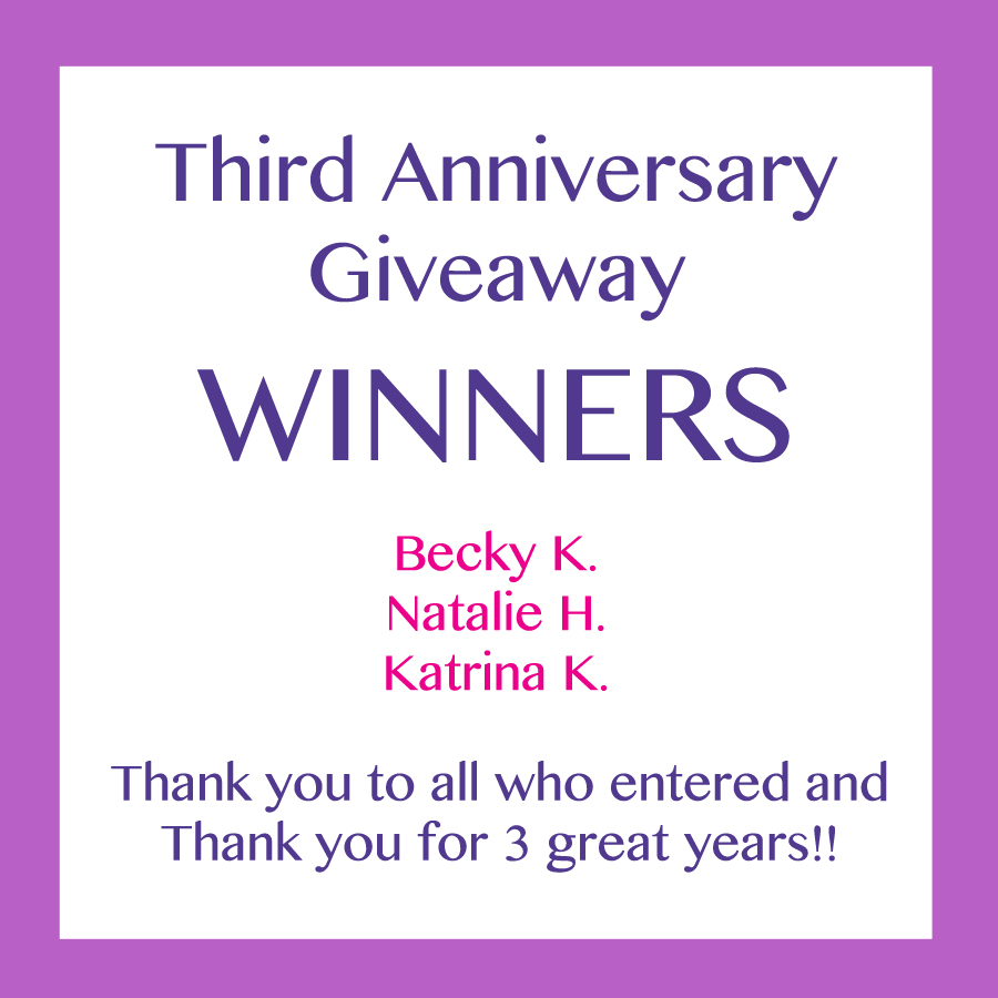 Third Anniversary Giveaway